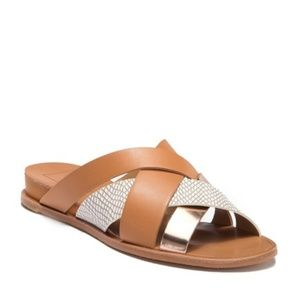 Dolce Vita Pete Snake Embossed Wedge Sandals